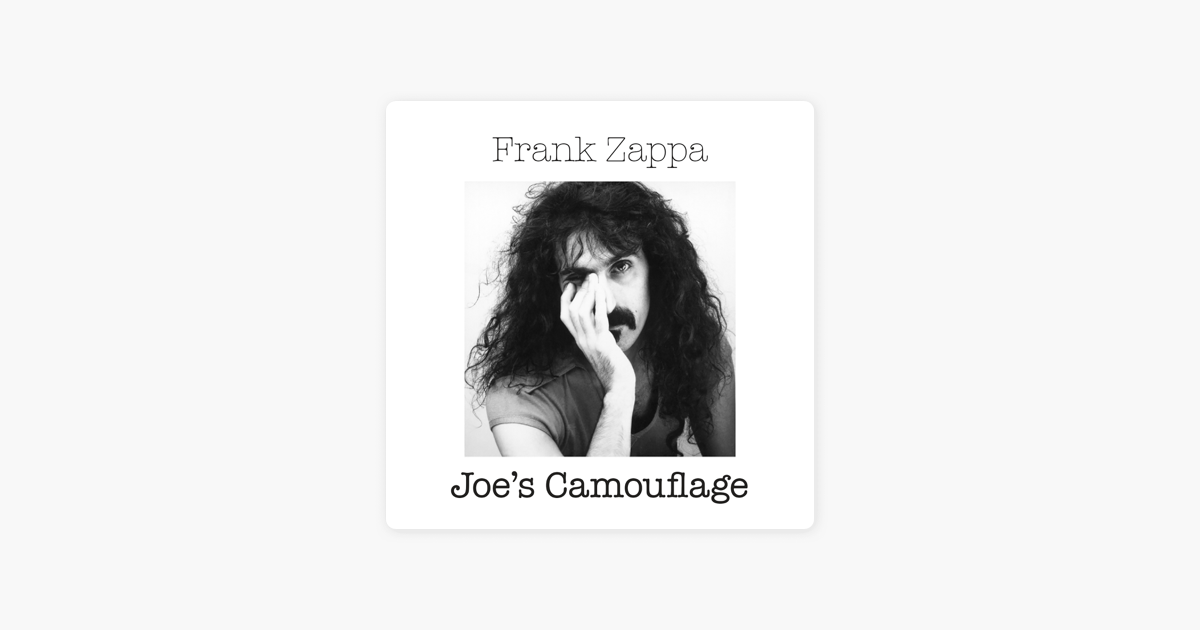 super cheap to buy casual shoes Joe's Camouflage by Frank Zappa