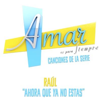 """Ahora Que Ya No Estás (Música de la Serie """"Amar Es para Siempre"""") - Single - Raul"""