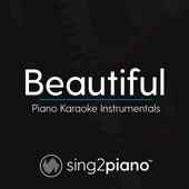 Beautiful (Lower Key) Originally Performed by Bazzi & Camila Cabello] [Piano Karaoke Version]