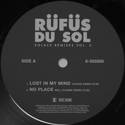 RÜFÜS DU SOL - Solace (Remixes), Vol. 3 - Single