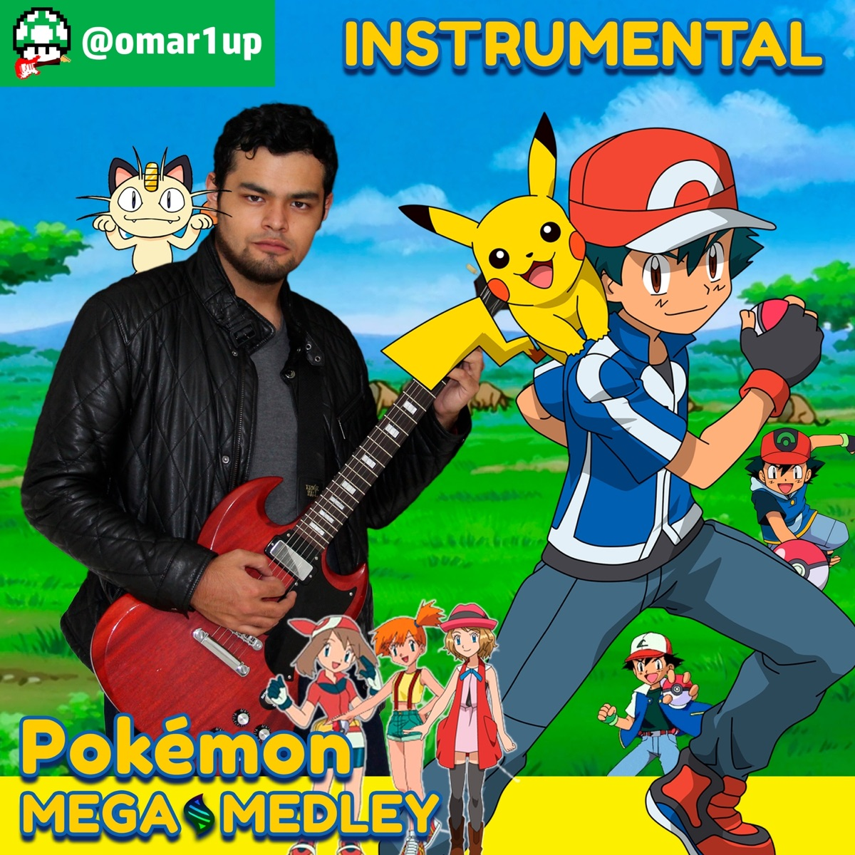 Pokémon Mega Medley Gotta Catchem All  Pokémon Johto  Pokémon World  Unbeatable  Born to Be a Winner  Believe in Me  I Wanna Be a Hero  V-volt  This Dream  We Will Carry On  Black and White  XYZ  We Will be Heroes  Battle Cry Instrument - EP omar1up CD cover