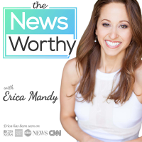 "Podcast cover art of theNewsWorthy: the daily news in 10 minutes | politics, tech, business, pop culture | newsworthy news | called ""the Skimm of"