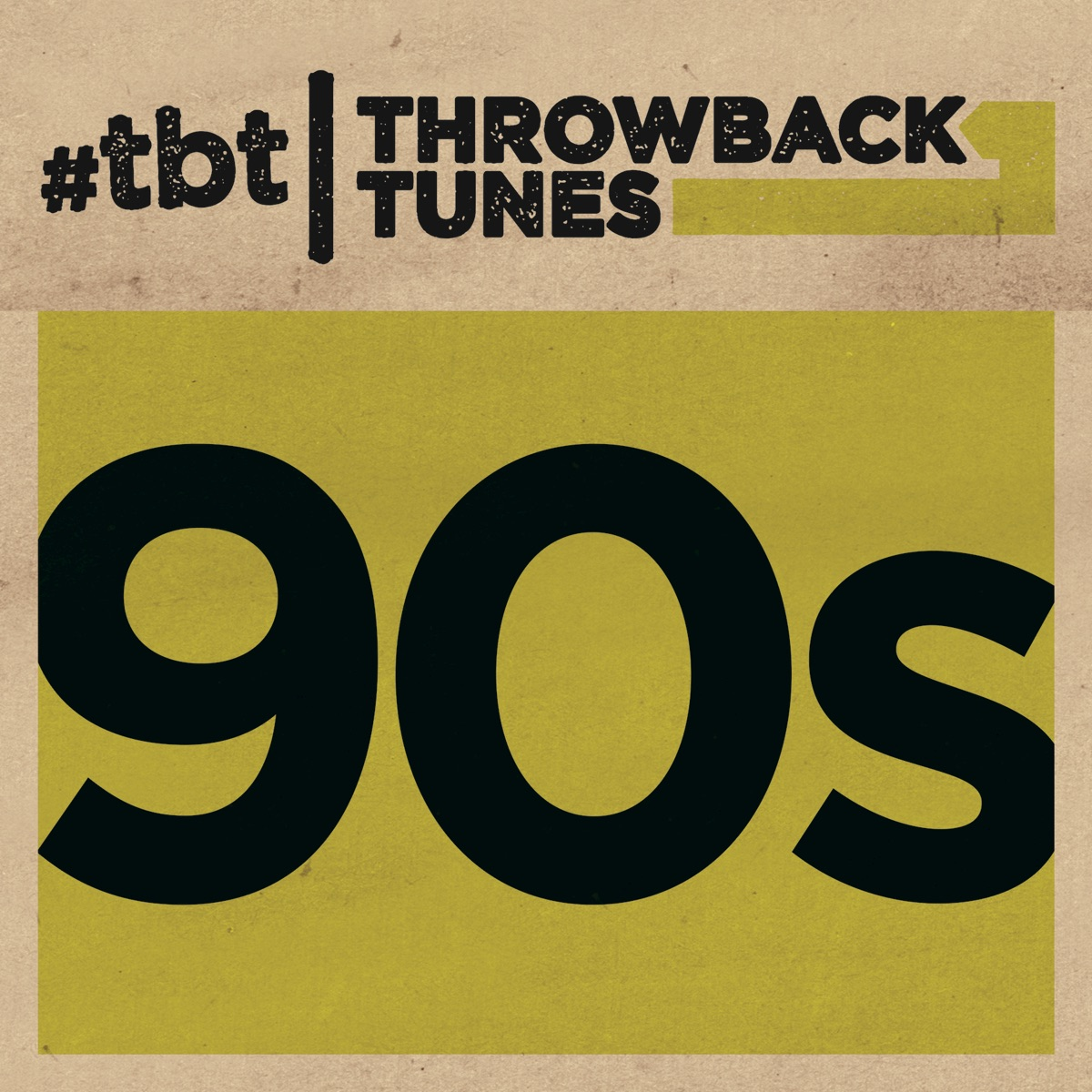 Throwback Tunes 90s Various Artists CD cover