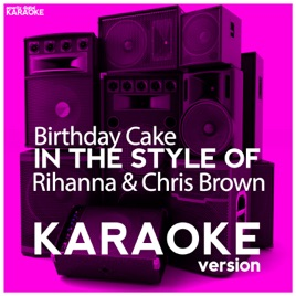 Excellent Birthday Cake In The Style Of Rihanna Chris Brown Karaoke Personalised Birthday Cards Epsylily Jamesorg