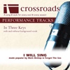 I Will Sing (Made Popular by Mark Bishop & Forget the Sea) [Performance Track] - Crossroads Performance Tracks