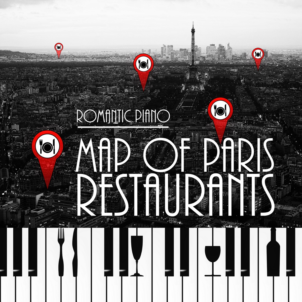 Map of Paris Restaurants – The Best Piano Background Music for
