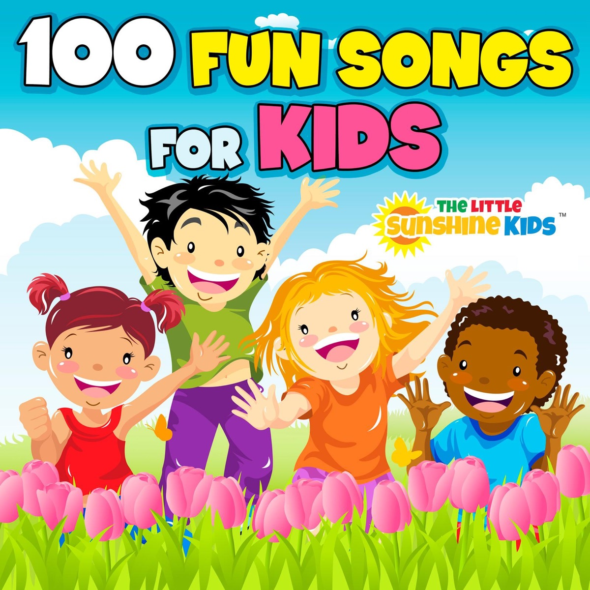 100 Fun Songs for Kids Album Cover by The Little Sunshine Kids