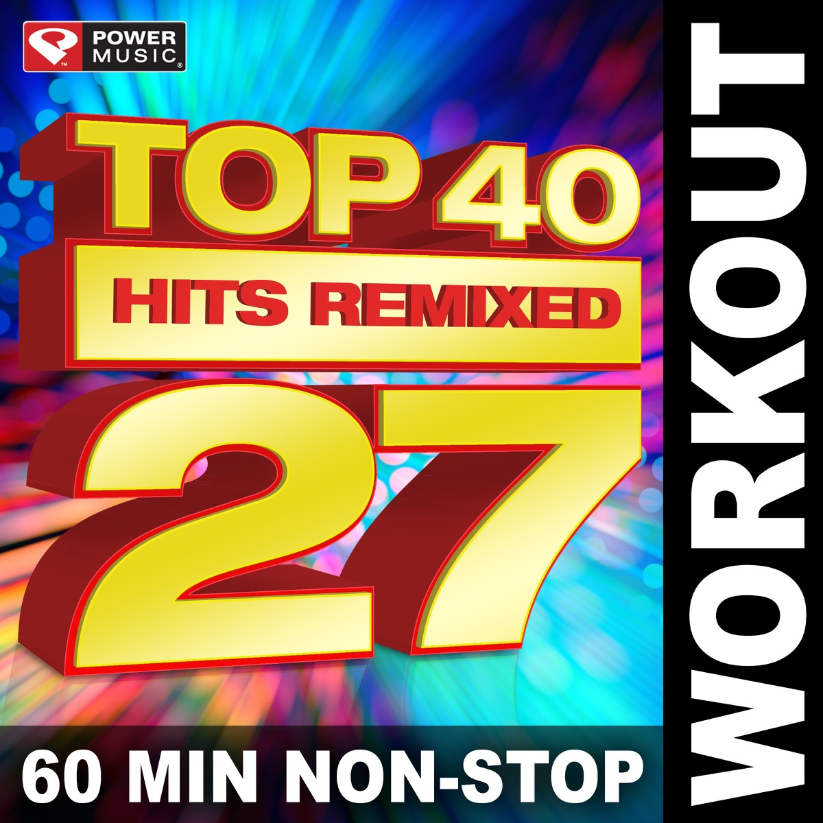 Top 40 Hits Remixed, Vol  27 Album Cover by Power Music Workout