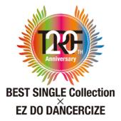 TRF 20th Anniversary BEST SINGLE Collection × EZ DO DANCERCIZE - trf Cover Art