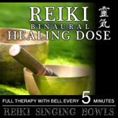 Reiki Singing Bowls (1H Full Binaural Healing Therapy with Bell Every 5 Minutes)