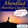 Matthias Claudius - Abendlied Grafik