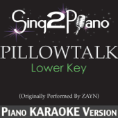 Pillowtalk (Lower Key) [Originally Performed by Zayn] [Piano Karaoke Version]