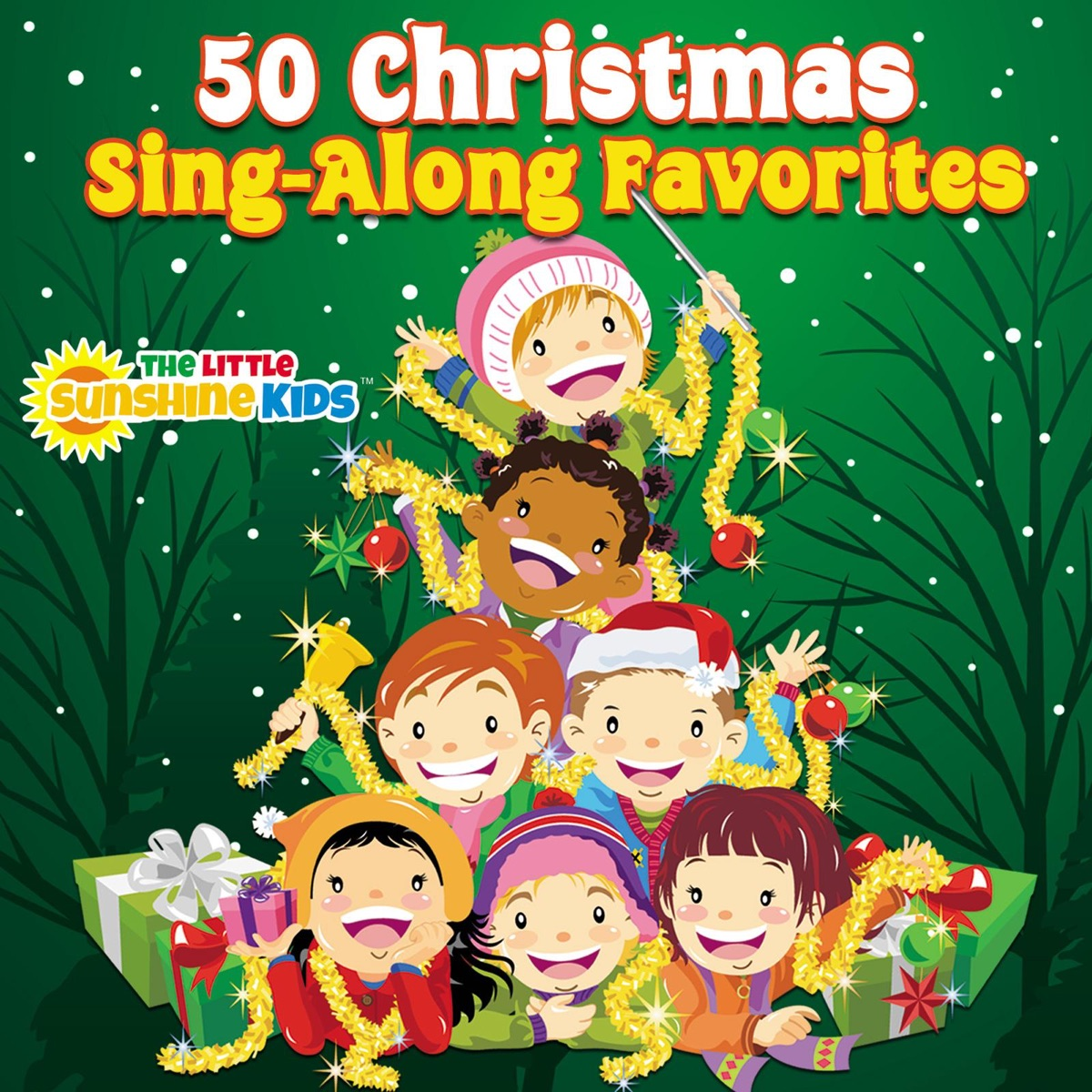 50 Christmas Sing-Along Favorites Album Cover by The Little Sunshine ...