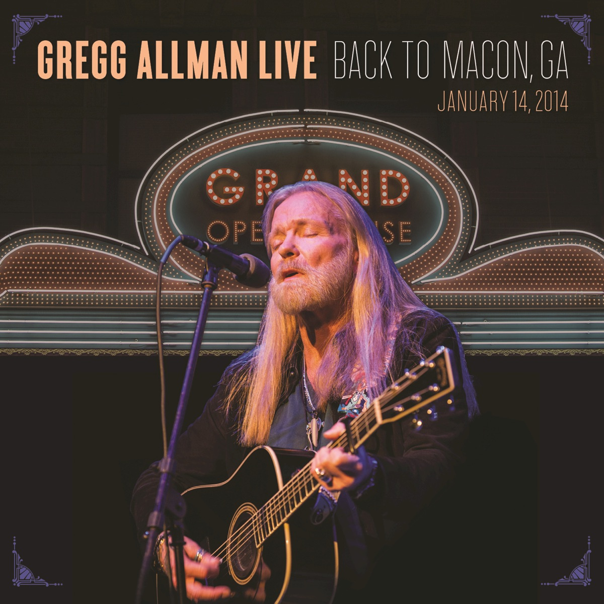Gregg Allman Live Back to Macon GA Gregg Allman CD cover