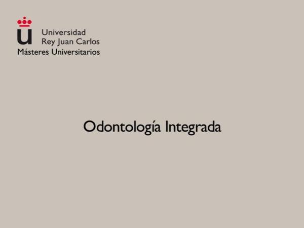 Odontología Integrada.