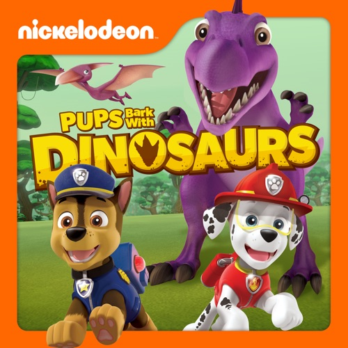PAW Patrol, Pups Bark with Dinosaurs poster