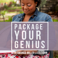 Podcast cover art for Package Your Genius Personal Branding Podcast