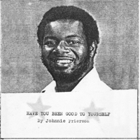 Johnnie Frierson - Have You Been Good to Yourself artwork