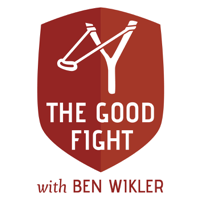 Podcast cover art for The Good Fight, with Ben Wikler