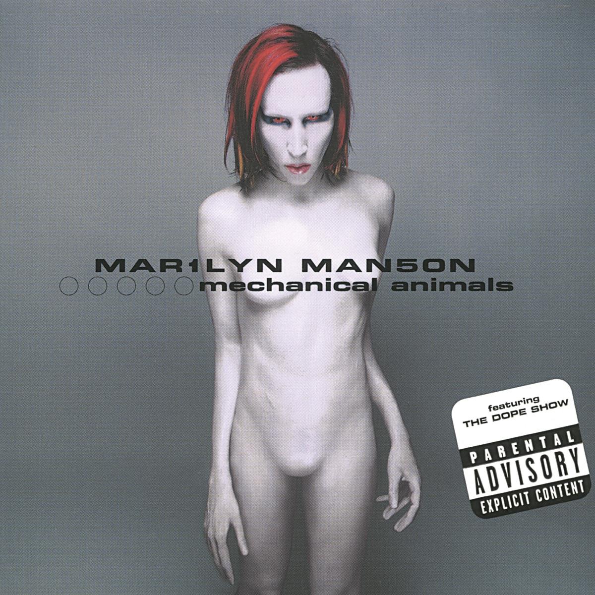 Mechanical Animals Marilyn Manson CD cover