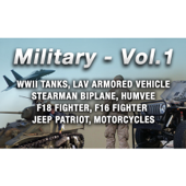 Tanks, M4A1E8 Sherman,Gravel,Approaching Very Slow,Pass Bys,Turn Around,Reverse,Caterpillar Bands Clatter,Revs High RPM,Engine Piston Knocking,Gear Clanks,Muffler Rumble,Medium Distant,Exterior,Fort Snelling MN,BG Crickets, Military