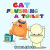 Cat Flushing a Toilet - Single - Foozlebots