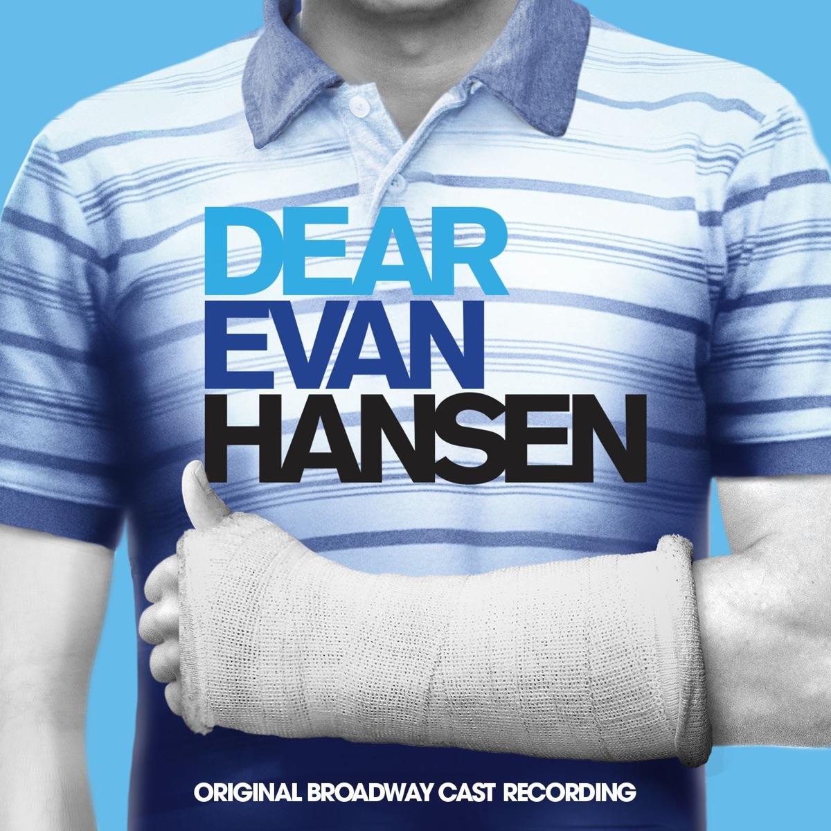 Dear Evan Hansen Original Broadway Cast Recording Various Artists CD cover