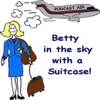 Betty in the Sky with a Suitcase!