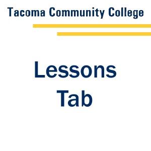 Lessons Tab - Tab 1