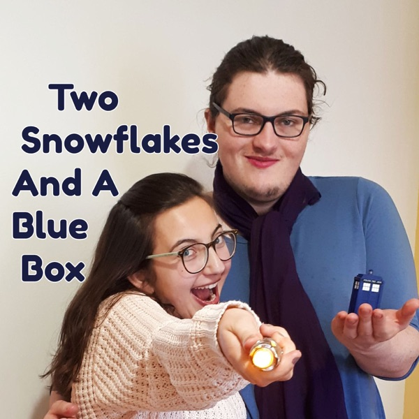 Two Snowflakes And A Blue Box