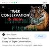 Conservation Of Tiger ; by Sanjay Rajan artwork