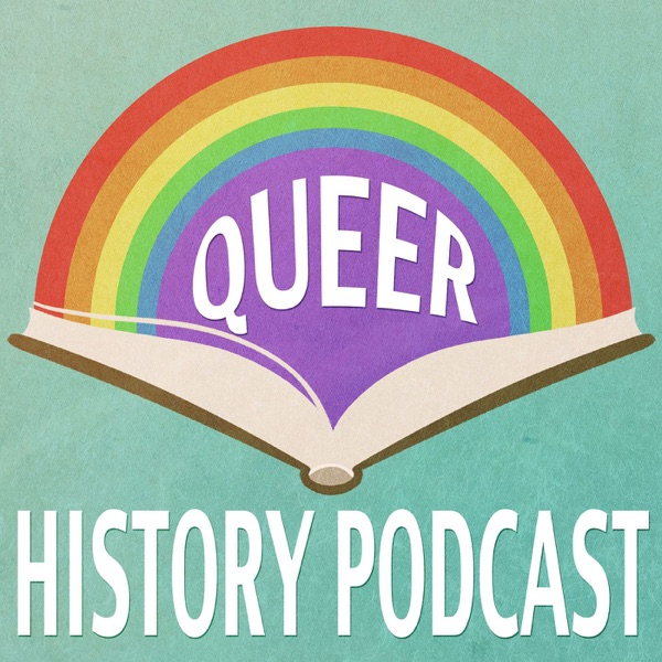 The Queer History Podcast banner backdrop