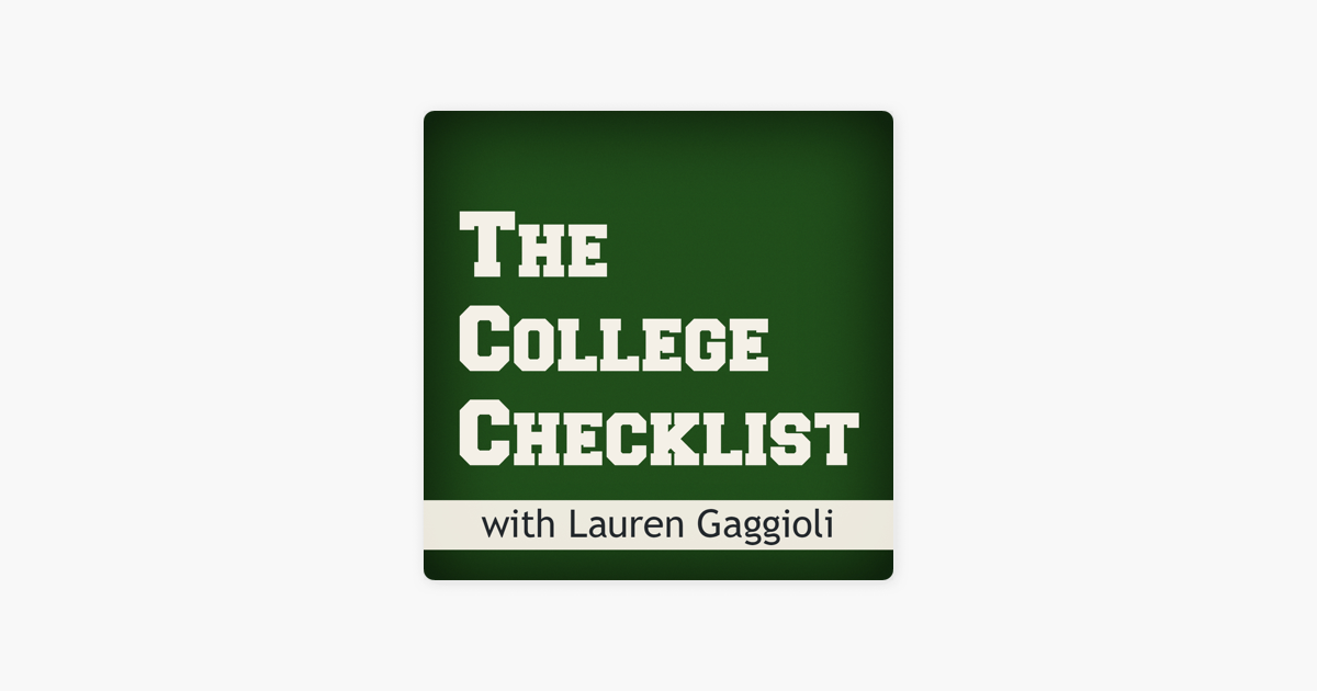 The College Checklist Podcast: College Admissions, Financial