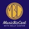 MusicBizCast with Kelly Castor artwork