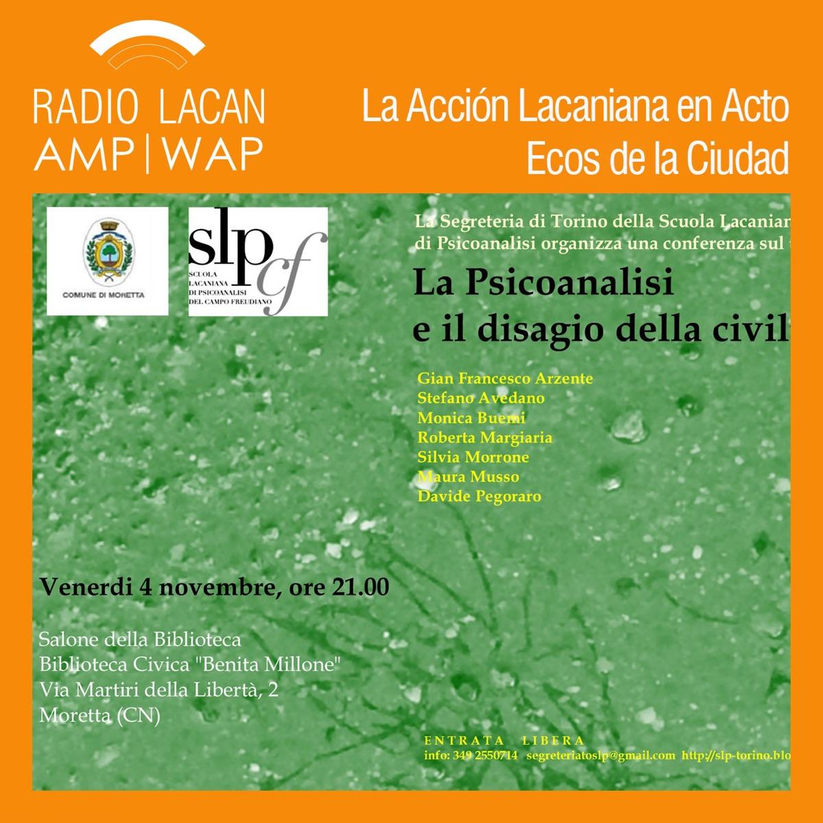 RadioLacan.com | Ecos de Turín: La psicoanalisi e il disagio della civiltà (El psicoanálisis y el malestar en la cultura) Charla en Moretta
