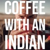 Coffee with an Indian artwork