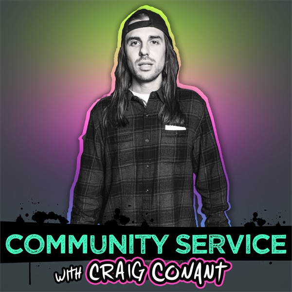 Community Service with Craig Conant banner backdrop