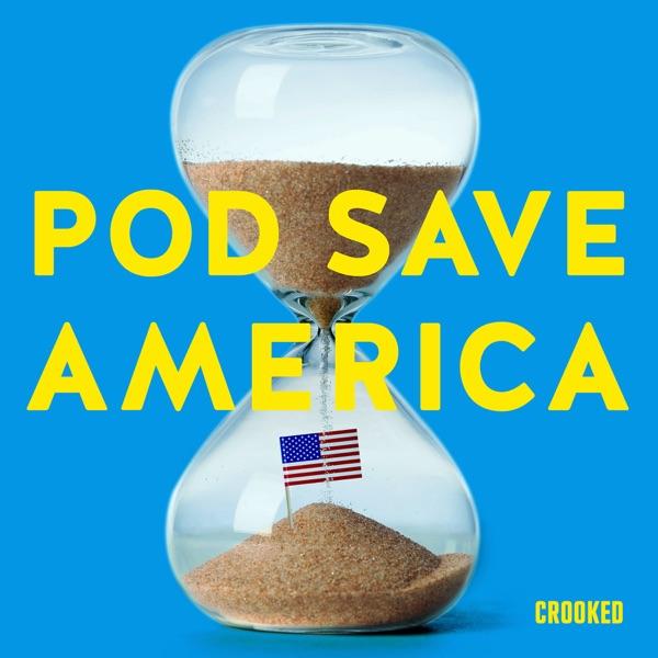 Pod Save America banner backdrop