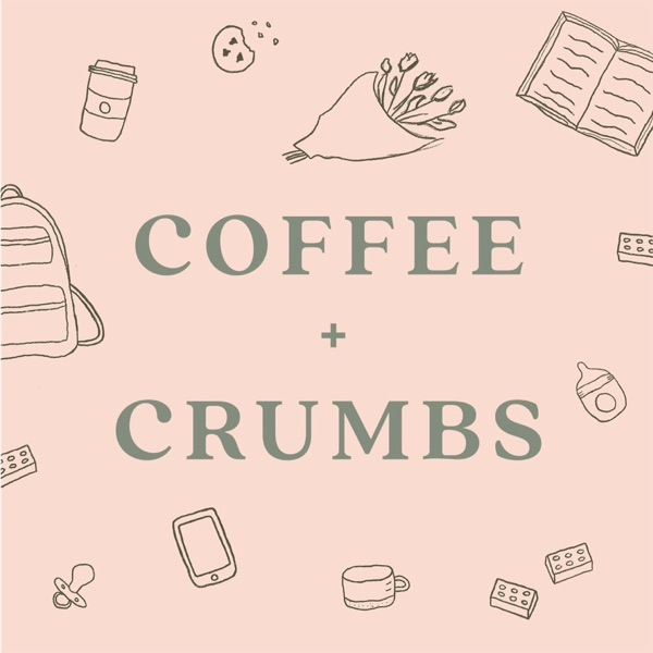 Coffee + Crumbs Podcast banner backdrop