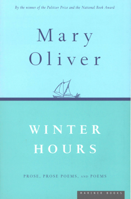Winter Hours - Mary Oliver book