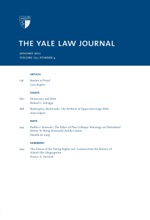 Yale Law Journal: Volume 121, Number 4 - January 2012