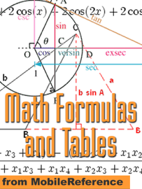 Math Formulas and Tables book