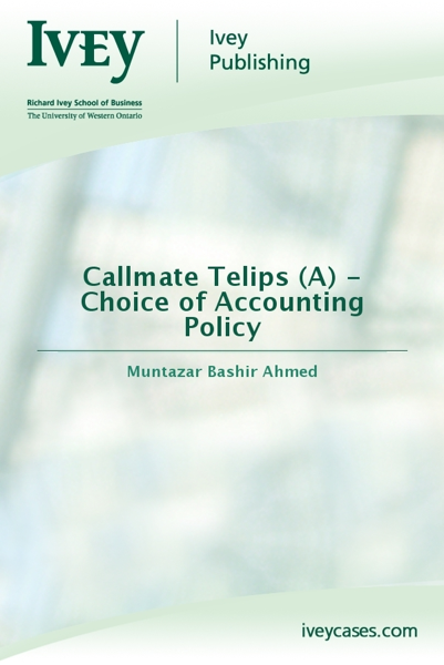 Callmate Telips (A) - Choice of Accounting Policy