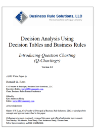 Decision Analysis Using Decision Tables and Business Rules book