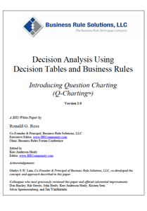 Decision Analysis Using Decision Tables and Business Rules Book Review