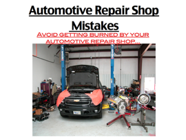 Automotive Repair Shop Mistakes book