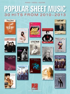 Popular Sheet Music - 30 Hits from 2010-2013 Book Cover