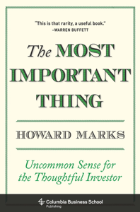 The Most Important Thing Libro Cover