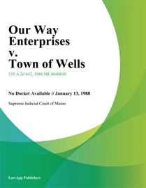 Our Way Enterprises v. Town of Wells