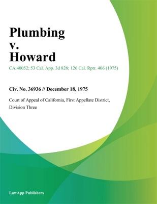 Plumbing v. Howard